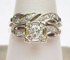 14kt Center 21 pt  and Sides 10 pt Diamond by KlinesJewelry, $750.00