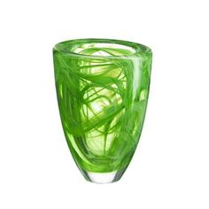 Kosta Boda's Atoll Vase in green would be a great centrepiece, with or without flowers, on a hallway table.