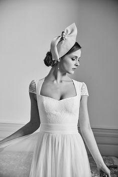 50s Wedding, Wedding Looks, Wedding Dresses, Lambert Creation, Vintage Inspired, One Shoulder Wedding Dress, Marie, Creations, Flower Girl Dresses