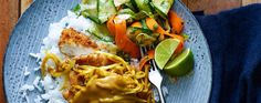 Japanese-style crispy chicken in a rich, fruity mild curry sauce. Chicken Katsu Curry, Food Vans, Chicken Slices, Slimming World Recipes, Crispy Chicken, Quick Easy Meals, Food To Make, Healthy Eating, Salad