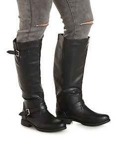 WIDE FIT Flat Riding Boots