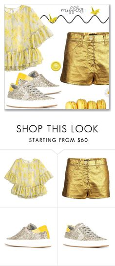 """Birds on a wire"" by interesting-times ❤ liked on Polyvore featuring H&M, Chanel, Philippe Model and ruffledtops"