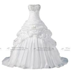 2014 Latest Model White Ivory Ball Gown Wedding Dress In Size:6,8,10,12,14,16