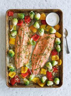 Ricardo& recipe: Baked Trout with Roasted Vegetables Potato Gnocchi Recipe, Sweet Potato Gnocchi, Gnocchi Recipes, Trout Recipes, Seafood Recipes, Cooking Recipes, Healthy Recipes, Clean Recipes, Diabetic Recipes