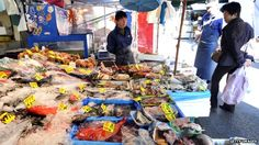 Fish in Tokyo market. Levels of radioactive contamination in fish caught off the east coast of Japan remain raised, official data shows. It is a sign that the Dai-ichi power plant continues to be a source of pollution more than a year after the nuclear accident. About 40% of fish caught close to Fukushima itself are regarded as unfit for humans under Japanese regulations.