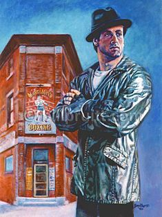 Sylvester Stallone Rocky Balboa Rocky 5 art print 12x16 signed and dated Bill Pruitt #RockyBalboa #RockyGym