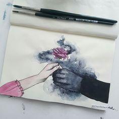 The Shadowsinger and The Flower art Olgierd Von Everec, Art Et Design, Art Du Croquis, Art Manga, Art Tips, Cool Drawings, Art Inspo, Art Sketches, Art Reference