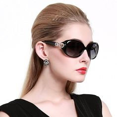 6d3327c6479 Duco Womens Shades Classic Oversized Polarized Sunglasses 100 UV Protection  1220 Black Frame Gray lens    Visit the image link more details.