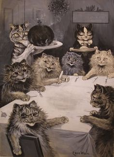 This picture is drawn by my favorite artist Louis Wain. (: