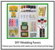 diy kid friendly wedding favors