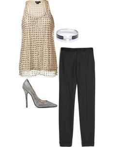 A New Year's Eve outfit featuring sparkle...