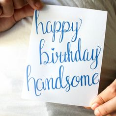 Purpose of the Paper- Happy Birthday Handsome  Moo's Musing and Madeliene Designs Birthday card for husband or boyfriend.