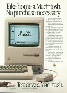 I do remember reading this page in a magazine once. #Mac ::: 1984 Macintosh #Advertisement