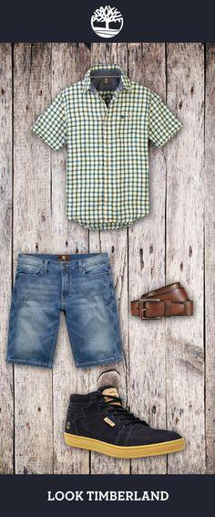 A melhor moda é aquela que está nas ruas. Vista-se e vá curtir um ambiente outdoor! Hoje nossa dica é: camisa Meridien Check, bermuda Jeans, cinto Vintage e tênis EK Packer Leather Chukka!