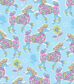 Poodle Power - Repeat pattern by me, Jo Chambers. Soon to be available as a print x