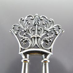 Antique La Belle Epoque Sterling Silver Hair Prong by BijouxBela, $245.00