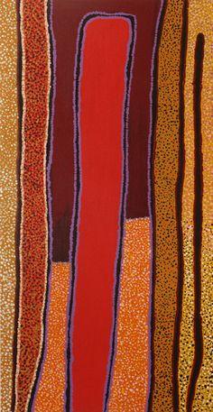 Pauline Sunfly 'Wilkinkarra' 2007 120 x Aboriginal Painting, Aboriginal Artists, Dot Painting, Australian Aboriginals, Art Through The Ages, Indigenous Art, Australian Artists, Native Art, Tribal Art