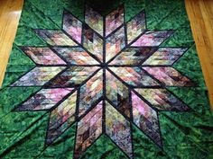 Prismatic Star, Quiltworx.com, Made by CI Julie Faulkner. Lone Star Quilt, Star Quilts, Easy Quilts, Star Patterns, Quilt Patterns, Braid Quilt, Keepsake Quilting, Star Images, Jellyroll Quilts
