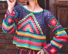 Crochet Hippie, T-shirt Au Crochet, Cardigan Au Crochet, Beau Crochet, Pull Crochet, Mode Crochet, Crochet Cardigan, Blouse Hippie, Tops Boho