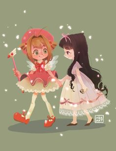 """My happiness is your happiness"" Sakura and Tomoyo, CardCaptor Sakura 