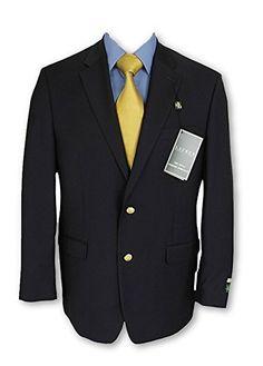 38bf47151a3 Ralph Lauren Mens 2 Button Navy Blue Wool Blazer Sport Coat Jacket – Size  44R Blazer