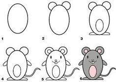 Basic drawing for kids step by step how to draw mouse draw in easy steps drawings . basic drawing for kids Doodle Drawings, Cartoon Drawings, Animal Drawings, Cute Drawings, Drawing Animals, Simple Drawings, Basic Drawing For Kids, Easy Drawings For Kids, Toddler Drawing