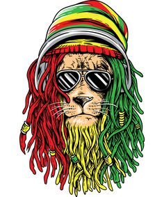Rasta Art, Rasta Lion, Rasta Tattoo, Arte Bob Marley, Rastafari Art, Jamaican Art, Bob Marley Pictures, Pop Art Decor, Reggae Artists