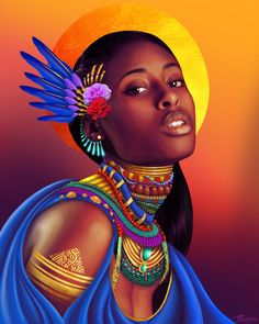 Black Royalty is at the center of this visual artist's stunning pieces Black Girl Art, Black Women Art, Art Girl, African Art Paintings, Black Royalty, Black Art Pictures, Africa Art, Black Artwork, Afro Punk