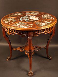 Gueridon Table attributed to Gabriel Viardot Late 19th Century
