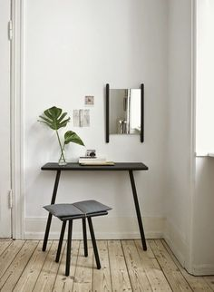Inspiration pour coiffeuse minimaliste
