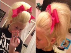 Big Cheer Hair Tutorial for you too SS All Star Cheer, Good Cheer, Cheer Stunts, Cheerleading, Cheer Hair Tutorial, Cheer Ponytail, Cheer Makeup, Fairy Makeup, Makeup Art