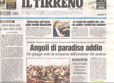 La prima pagina del Tirrenino (edizione Grosseto) di domenica 5 giugno 2005 apprezzata anche nell'Africa Nera
