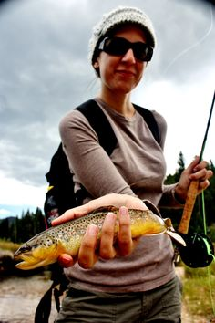 woman fly fisher