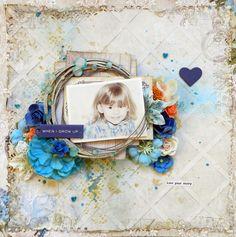 """Blue Fern Studios: Live Your Story - Scrapbook.com 27 jan 2014  """"Blue Fern Garden"""" Collection Paper Erin Blegen"""