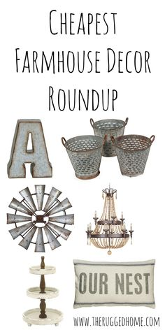 Cheap Farmhouse Decor, Cheapest Roundup Of Farmhouse Decor On The Internet, Industrial Country Farmhouse Rustic Decor