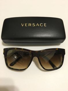 3c5123e803 Versace Sunglasses Model 4179 Brown Tortoise Shell With Case Included.   fashion  clothing