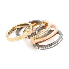 Club Monaco Monique Stacking Ring - Go for rocker-chic with this glam mixed metal ring