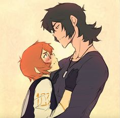 Keith and Pidge's romantic moment in Psycho Pass from Voltron Legendary Defender