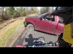 Crazy Close Dirt-bike Accident   God Bless Texas