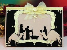 Tattered Lace Nativity Cards | Tattered Lace - Dies - Essentials Nativity Scene