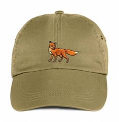 Dad hat,Fox,dad hat, Cap embroidery, Dad cap,embroidery,machine embroidered by NeedleArtGR on Etsy