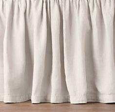 Garment-Dyed Linen Skirt