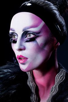 Makeup by Alex Box. Dystopia collection for Illamasqua- Strong contouring with bright pink