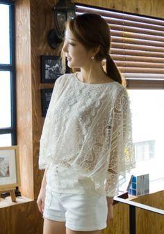 waist band lace blouse from Kakuu Basic. Saved to Kakuu Basic Blouses & Shirts. Seoul Fashion, Band, My Style, Sexy, Blouses, Shirts, Tops, Women, Sash