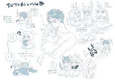 Owner Sousuke ...  From 4_ne_ 8 ... Free! - Iwatobi Swim Club, free!, iwatobi, makoto tachibana, makoto, tachibana, sousuke, sousuke yamazaki, yamazaki, dog, puppy, squishy bean Yamazaki Sousuke, Makoto Tachibana, Anime Pregnant, Anime Bebe, Swimming Anime, Free Characters, Splash Free, Free Iwatobi Swim Club, Kaichou Wa Maid Sama