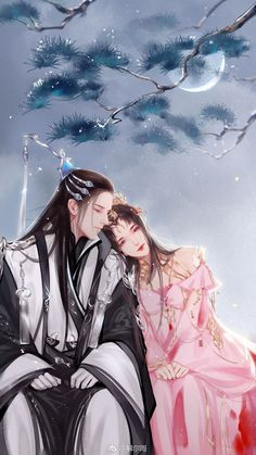 Tịch Đàm Romantic Anime Couples, Fantasy Couples, Cute Anime Couples, Chinese Artwork, Chinese Drawings, Anime Couples Drawings, Anime Couples Manga, Manga Watercolor, Susanoo