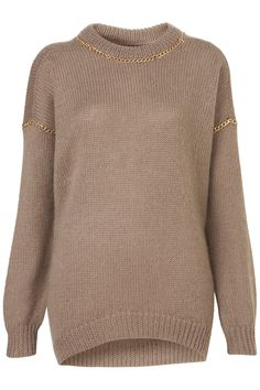 In love with this TOPSHOP chain insert taupe jumper