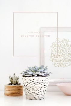 Plaited Planter tutorial | Fall For DIY