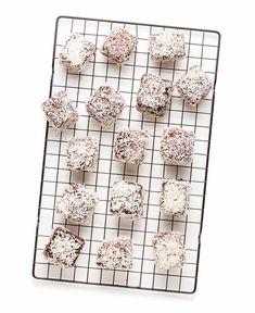 Coconut Recipes, Raw Food Recipes, Sweet Recipes, Lamingtons Recipe, Afternoon Tea Cakes, Tim Tam, Flavored Milk, Australia Day, Little Cakes