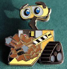 Wall-E pin Disney Cats, Disney Disney, Disney Food, Disney Magic, Disney Movies, Rare Disney Pins, Disney Trading Pins, Disney Souvenirs, Disney Products